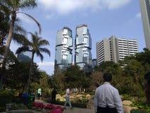 Mesmeryzować bliźniaczą wieżę fotografia royalty free