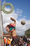 Mesoamerican ballgame. Performed in Central America, Maya civilization Royalty Free Stock Photo