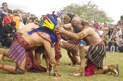 Mesoamerican match royaltyfri bild