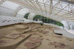 Mesolithic arkeologisk platsLepen aktivitet, mellan 9500/7200-60 royaltyfria bilder
