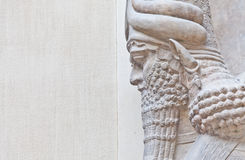 Mesopotamian Art. Dating back to 3500 B.C., Mesopotamian art war intended to serve as a way to glorify powerful rulers and their connection to divinity Stock Photo