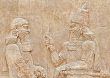 Mesopotamian Art. Dating back to 3500 B.C., Mesopotamian art war intended to serve as a way to glorify powerful rulers and their connection to divinity Royalty Free Stock Images