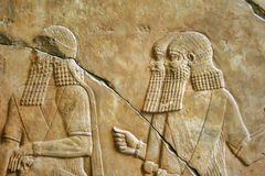 Mesopotamian Art. War intended to serve as a way to glorify powerful rulers and their connection to divinity Stock Photo