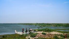 Mesopotamische Sümpfe, Lebensraum von Marsh Arabs alias Madans der Irak Stockbild