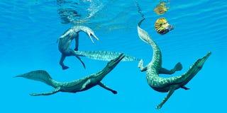 Mesosaurus Marine Reptiles Stock Foto