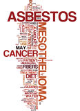 Mesothelioma History Hazards And Dietary Advice Text Background  Word Cloud Concept Stock Images