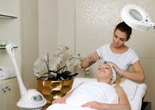 Mesotherapy facial treatment Stock Images