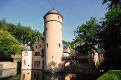 Mespelbrunn castle in Bavaria land Stock Image