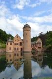 Mespelbrunn slott Royaltyfria Foton