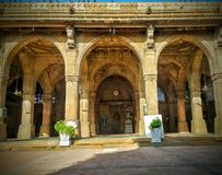 Mesquita Ahmedabad gujarat do sayiad de Sidi da arquitetura fotografia de stock royalty free