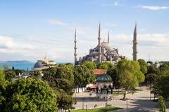 A mesquita azul Istambul, Turquia Parque de Sultanahmet fotos de stock royalty free