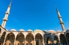 Mesquita azul, mesquita de Sultanahmed com minaretes Fotos de Stock