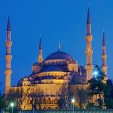 Mesquita azul na noite Imagem de Stock