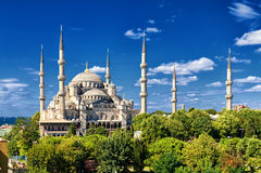 Mesquita azul, Sultanahmet, Istambul, Turquia Fotografia de Stock