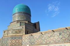 Mesquita belamente decorada em Samarkand, Usbequistão fotos de stock royalty free