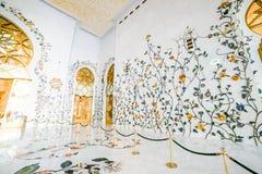 Mesquita branca em Abu Dhabi Imagem de Stock