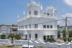 Mesquita branca em Galle - Sri Lanka Imagens de Stock