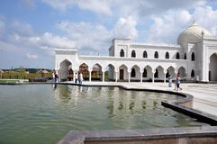 Mesquita branca na vila da búlgara, Tartaristão, Rússia Imagens de Stock