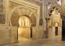 A Mesquita-catedral do interior de Córdova, Espanha Imagens de Stock Royalty Free