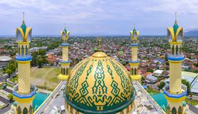 Mesquita Center islâmica em Mataram Foto de Stock Royalty Free