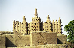 Mesquita da lama, Sirimou, Mali Fotografia de Stock Royalty Free