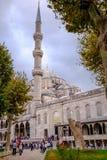 Mesquita de Ahmed da sultão no peru de Istambul imagens de stock royalty free