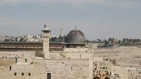 Mesquita de Aqsa do Al em Jerusalem video estoque