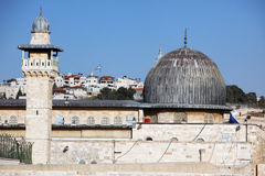 Mesquita de Aqsa do Al em Jerusalem Fotografia de Stock Royalty Free