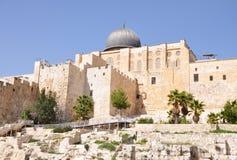 Mesquita de Aqsa do Al. Montagem do templo. Jerusalem. Fotografia de Stock Royalty Free