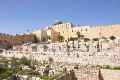 Mesquita de Aqsa do Al. Montagem do templo. Jerusalem. Imagens de Stock Royalty Free