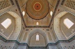 Mesquita de Bibi-Khanym da Rota da Seda velha em Samarkand, Uzbekist Fotos de Stock