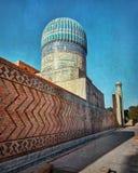 Mesquita de Bibi-Khanym da Rota da Seda velha em Samarkand, Uzbekist Fotografia de Stock