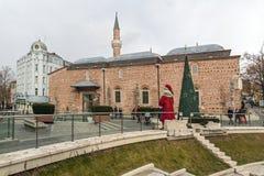 Mesquita de Dzhumaya e estádio romano na cidade de Plovdiv, Bulgária imagem de stock royalty free