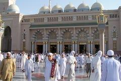 Mesquita de Nabawi, Medina, Arábia Saudita Fotografia de Stock