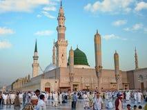 Mesquita de Nabawi, Medina, Arábia Saudita Fotos de Stock Royalty Free