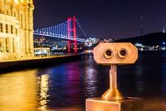 Mesquita de Ortakoy e ponte de Bosphorus imagens de stock royalty free