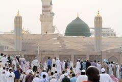 Mesquita de Prophet's em Medina Arábia Saudita Imagens de Stock Royalty Free