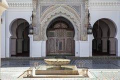 Mesquita de Qarawiyyin, fez, Marrocos, 2017 imagem de stock royalty free