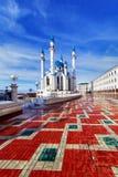 Mesquita de Qolsharif em Kazan Kremlin Foto de Stock