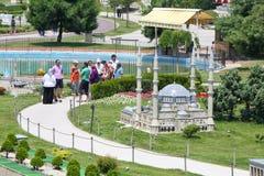 Mesquita de Selimiye em Edirne no museu de Miniatyurk Foto de Stock Royalty Free