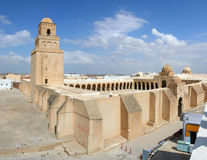 Mesquita de Sidi Okba, Kairouan, Tunísia imagem de stock royalty free