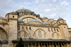 Mesquita de Suleymaniye em Istambul, Turquia fotografia de stock royalty free