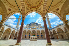 Mesquita de Suleymaniye em Istambul, Turquia foto de stock