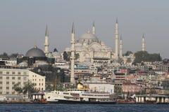 Mesquita de Suleymaniye na cidade de Istambul imagem de stock royalty free