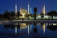 Mesquita de Sultanahmet (mesquita azul) no amanhecer, Istambul Fotos de Stock