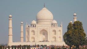 Mesquita de Taj Mahal em Agra, India imagens de stock royalty free