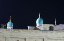 Mesquita dentro na noite Imagens de Stock Royalty Free