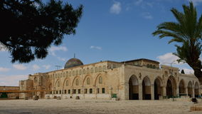 Mesquita do al-Aqsa no timelapse do Jerusalém filme