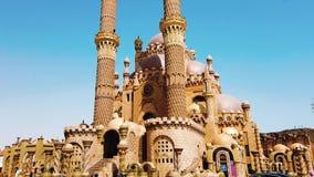 Mesquita do EL Sahaba Sharm el Sheikh ?frica video estoque