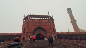 Mesquita do Jama em Deli, Índia fotos de stock royalty free